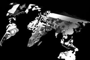 carte mappemonde microperforée